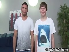 Gay friend watches straight friend jack off Tommy White Tops Sam